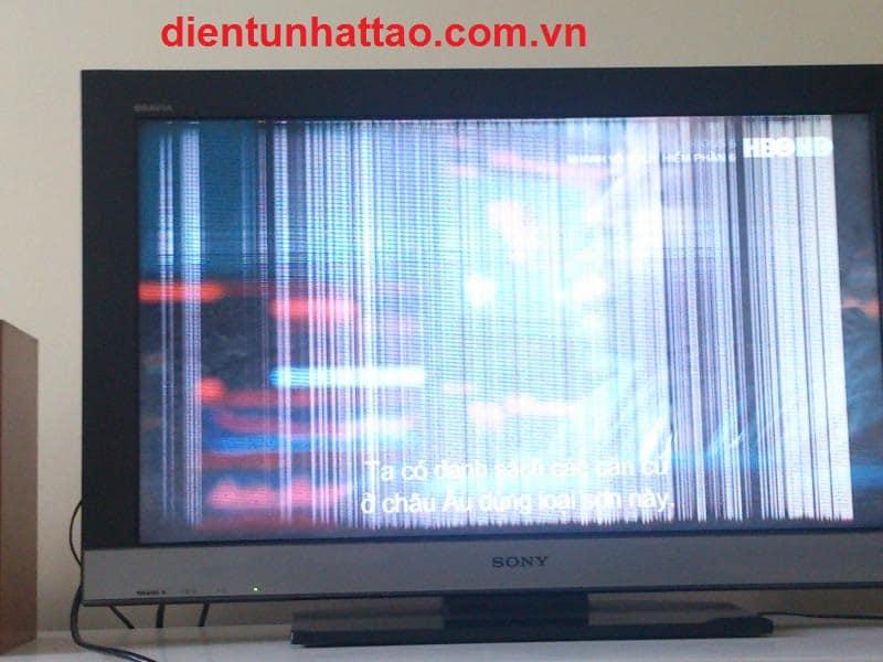 Tivi có sọc màn hình vừa sọc ngang và sọc dọc cần sửa màn hình tivi