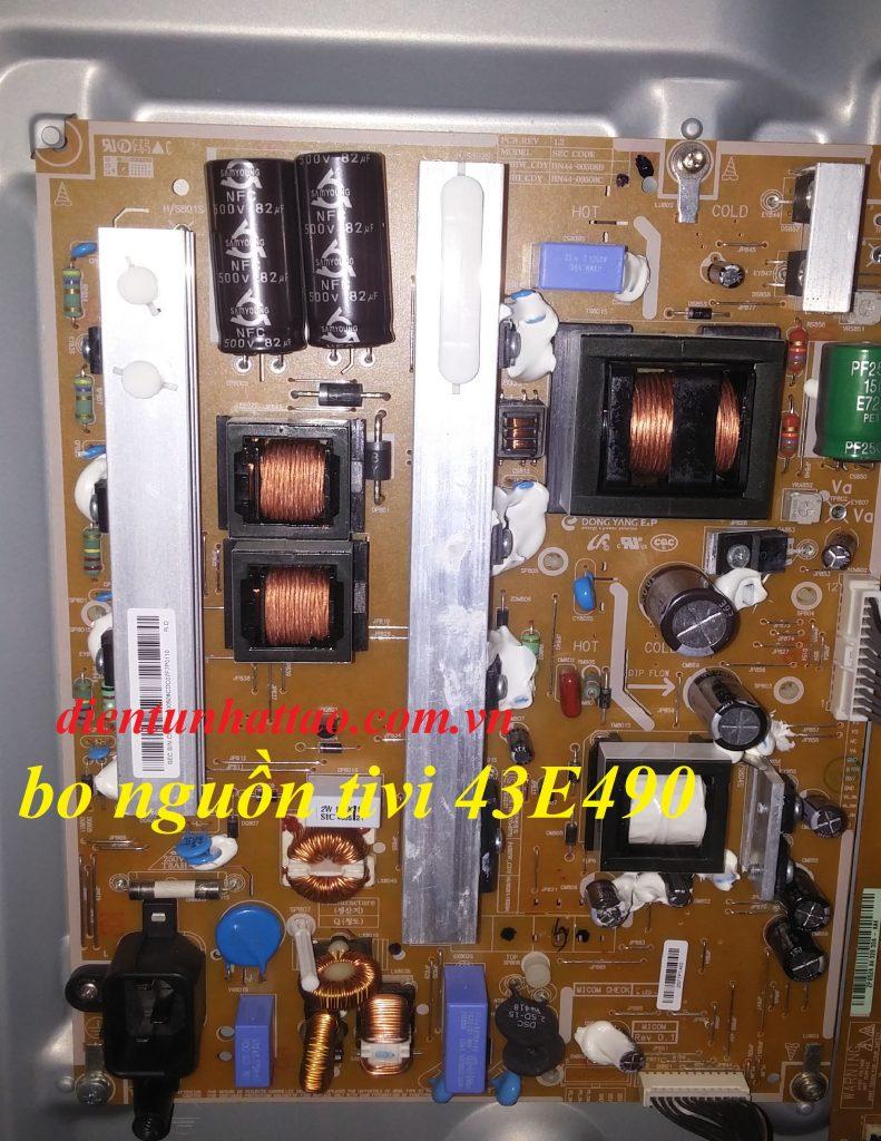 bo nguồn tivi samsung plasma 43E490 của điện tử nhật tảo